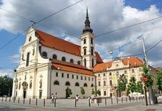 圣托马斯,布尔诺,捷克共和国教会  免版税图库摄影