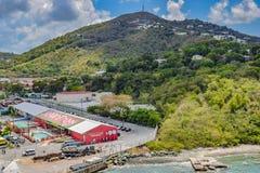 圣托马斯,美国维尔京群岛- 2014年4月01日:Señor青蛙在圣托马斯 免版税库存照片
