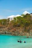 圣托马斯,美国维尔京群岛轻潜水员 免版税库存图片