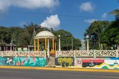 圣拉蒙公园从马塔加尔帕,尼加拉瓜的 库存照片