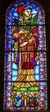 圣文森彩色玻璃Se大教堂里斯本葡萄牙 库存照片