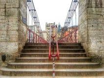圣文森桥梁,利昂老镇,法国 库存图片