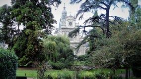 圣文森de保罗教会是一个天主教会从17世纪,位于在皇家城堡附近 免版税图库摄影