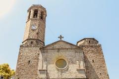 圣文森de Sarria教会的门面在巴塞罗那 库存照片