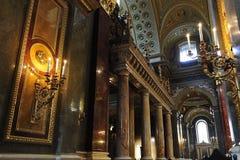 圣斯德望大教堂内部 图库摄影