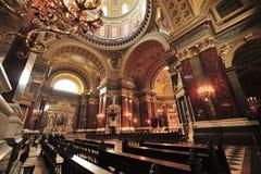 圣斯德望大教堂内部 库存图片