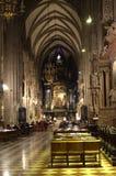 圣斯德望大教堂维也纳教堂中殿  库存图片