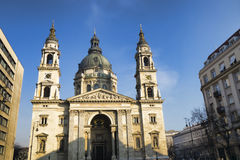 圣斯德望` s大教堂在布达佩斯,匈牙利 库存图片