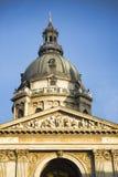 圣斯德望` s大教堂塔在布达佩斯,匈牙利 免版税库存图片