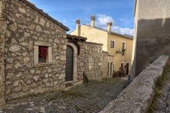 圣斯泰法诺迪塞桑约村庄,阿布鲁佐,拉奎拉 库存图片