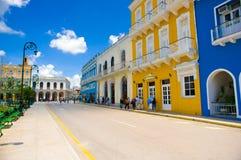 圣斯皮里图斯市,古巴- 2015年9月5日:拉丁语 库存图片