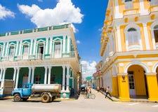 圣斯皮里图斯市,古巴- 2015年9月5日:拉丁语 免版税库存照片