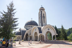 圣斯莫梁Vissarion教会的圆顶在斯莫梁 免版税库存图片