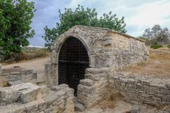 圣斯蒂芬在Pachna附近村庄的` s教堂在塞浦路斯 库存图片