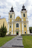 圣斯蒂芬大教堂在Szekesfehervar,匈牙利 库存照片