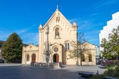 圣斯蒂芬教会在斯洛伐克共和国的首都 库存照片