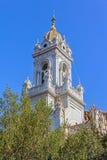 圣斯蒂芬教会塔在伊斯坦布尔 免版税图库摄影