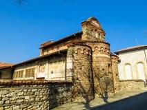 圣斯蒂芬教会, 10世纪 老Nessebar,保加利亚 图库摄影