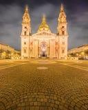 圣斯蒂芬的大教堂和正方形在布达佩斯 免版税库存照片