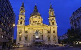 圣斯蒂芬的大教堂在布达佩斯 免版税图库摄影