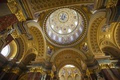 圣斯蒂芬的大教堂在布达佩斯 库存图片