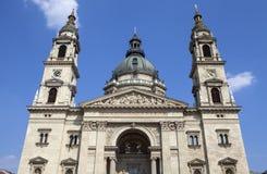 圣斯蒂芬的大教堂在布达佩斯 库存照片