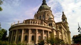 圣斯蒂芬的大教堂,天主教大教堂在布达佩斯,匈牙利 库存图片