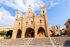 圣斯蒂芬的教会在巴特伦,黎巴嫩 库存图片