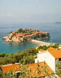 圣斯蒂芬的海岛在黑山 免版税库存照片