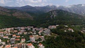 圣斯蒂芬鸟瞰图在黑山 影视素材