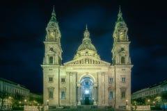 圣斯蒂芬` s大教堂和正方形在布达佩斯 库存图片
