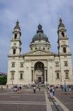 圣斯蒂芬` s大教堂在布达佩斯老镇 免版税库存照片