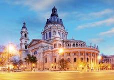 圣斯蒂芬` s大教堂在布达佩斯,匈牙利 免版税库存照片