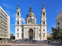 圣斯蒂芬` s大教堂在布达佩斯,匈牙利 免版税库存图片