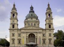 圣斯蒂芬` s大教堂或教会在布达佩斯,匈牙利 库存照片
