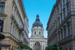 圣斯蒂芬` s大教堂,布达佩斯,匈牙利,欧洲 免版税库存照片
