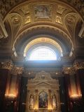 圣斯蒂芬& x27; s大教堂,布达佩斯,匈牙利 免版税图库摄影
