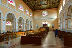 圣斯蒂芬` s大教堂,斯库台,阿尔巴尼亚内部  库存照片
