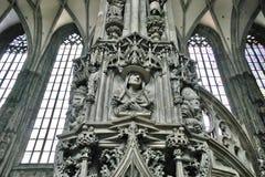 圣斯蒂芬` s大教堂细节在维也纳 库存图片