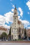 圣曼努埃尔和圣贝尼托教会在马德里 免版税库存图片
