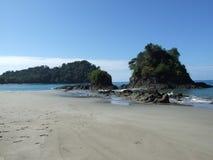 圣曼努埃尔安东尼奥海滩,哥斯达黎加,海岸线视图 图库摄影
