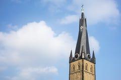圣朗贝蒂高耸细节在杜塞尔多夫,德国 库存照片