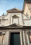 圣木卫四教会在Trastevere区在罗马 库存图片