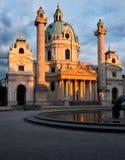 圣查尔斯教会在维也纳,奥地利 库存照片