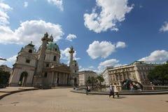 圣查尔斯教会,维也纳 免版税图库摄影