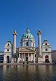 圣查尔斯教会(Karlskirche, 1737)。维也纳,奥地利 库存照片