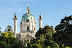 圣查尔斯的教会(Karlskirche)维也纳 库存图片