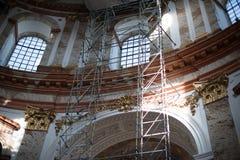圣查尔斯的教会(Karlskirche)在维也纳 库存照片