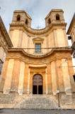 圣查尔斯Borromeo教会,诺托,西西里岛,意大利 免版税库存图片