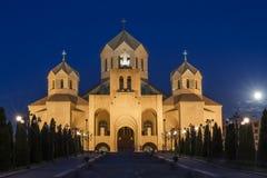 圣格雷戈里大教堂在耶烈万,亚美尼亚 免版税库存图片